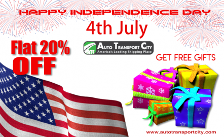 Auto Transport City Announced a FLAT 20% Discount on its services to celebrate Independence Day.